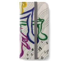 music muse white  iPhone Wallet/Case/Skin