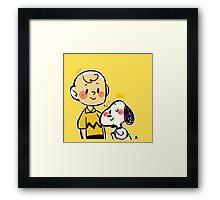 Dog's best friend Framed Print