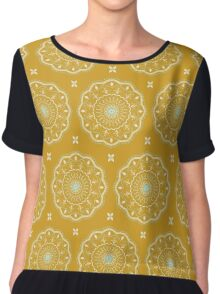 Yellow Mandalas Chiffon Top