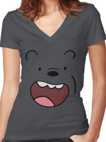 Bears Grizzly Women's Fitted V-Neck T-Shirt