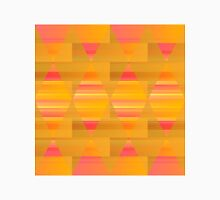 Argyle - Pink and Yellow on Stripes and Rectangles  Unisex T-Shirt