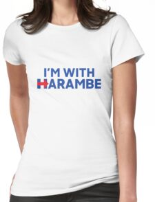 im with harambe! Womens Fitted T-Shirt