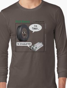 Cartoon : Tired and Exhausted Long Sleeve T-Shirt