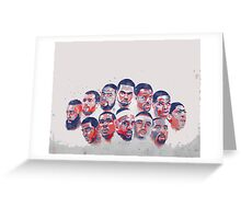 All star all in Greeting Card