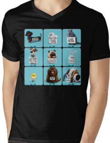 the secret life of pets & Freinds Mens V-Neck T-Shirt