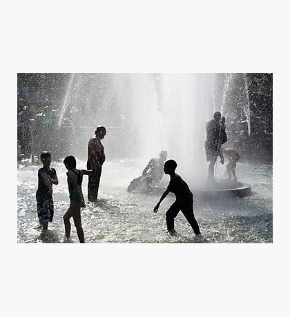 Fountain Fun One Photographic Print