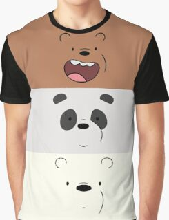 We Bare Bears Face Graphic T-Shirt