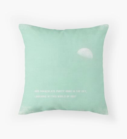 moon and earth Throw Pillow