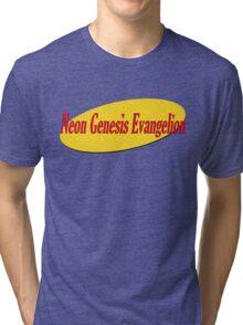 Neon Seinfeld Evangelion Tri-blend T-Shirt