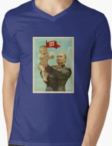 BABY TRUMP WITH PUTIN Mens V-Neck T-Shirt