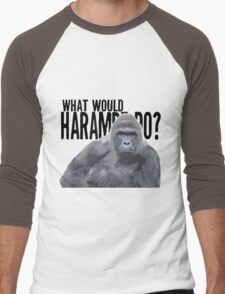 What would Harambe do? Men's Baseball ¾ T-Shirt