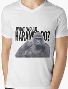 What would Harambe do? Mens V-Neck T-Shirt