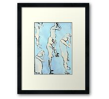 blue nude Framed Print