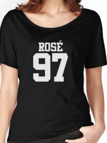 BLACKPINK Rose 97 (White) Women's Relaxed Fit T-Shirt