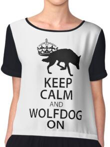 Keep Calm Wolfdog On Chiffon Top