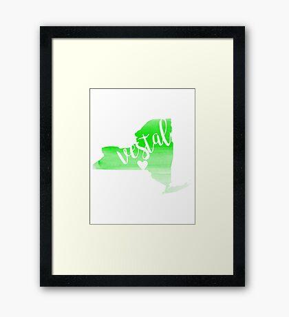 Vestal Framed Print