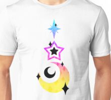 CMYK Moon and Star Drop Unisex T-Shirt