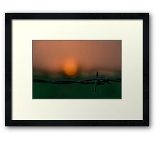 Fire and Steele  Framed Print