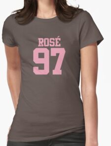 BLACKPINK Rose 97 (Pink) Womens Fitted T-Shirt