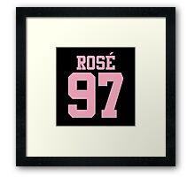 BLACKPINK Rose 97 (Pink) Framed Print