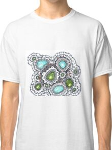 Turquoise and Lace Classic T-Shirt