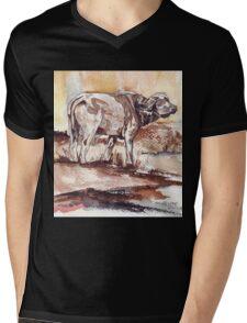 African Buffalo Mens V-Neck T-Shirt