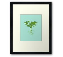 Earth tree Framed Print