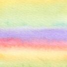Rainbow watercolour gradient by Sarah Dean