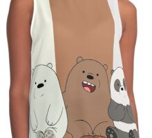 We Bare Bears Babys Contrast Tank