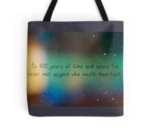 900 Years of Time and Space. Tote Bag