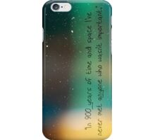 900 Years of Time and Space. iPhone Case/Skin