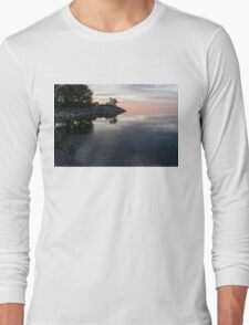 Soft Pinks and Purples - Silky Morning on Lake Ontario Long Sleeve T-Shirt