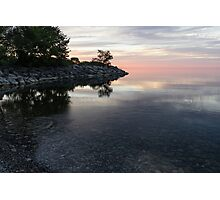 Soft Pinks and Purples - Silky Morning on Lake Ontario Photographic Print