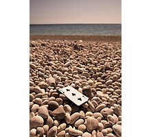 The Card on the Beach - Macro/Object Photography Photographic Print