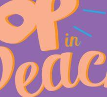 Pop in Peach Sticker