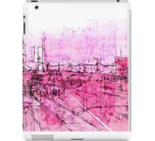 pink - huddersfield train station iPad Case/Skin
