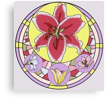 Lily stain glass Canvas Print