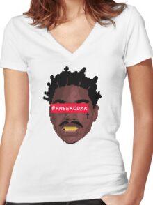 kodak black Women's Fitted V-Neck T-Shirt