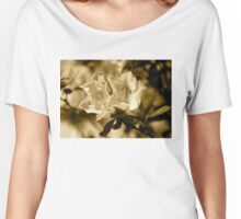 Azaleas in sepia  Women's Relaxed Fit T-Shirt