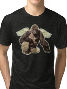 Harambe from above Tri-blend T-Shirt