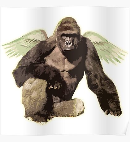 Harambe from above Poster