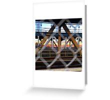 Manhattan Bridge-on the run Greeting Card
