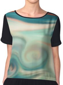 Digital painted texture retro pastel background. Abstract beautiful illustration, color, silk, liquid print. Chiffon Top