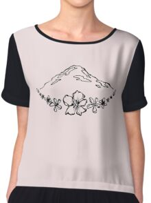 Floral Mountain Chiffon Top
