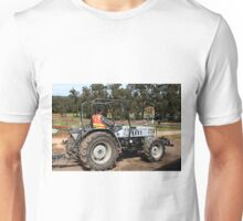 Tractor amongst the tulips, Dandenongs, Victoria Unisex T-Shirt