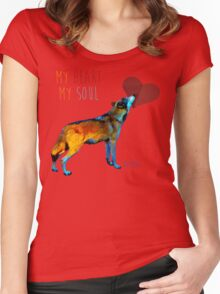 Wolf Heart Women's Fitted Scoop T-Shirt