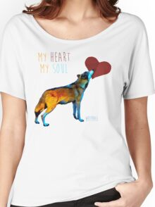 Wolf Heart Women's Relaxed Fit T-Shirt
