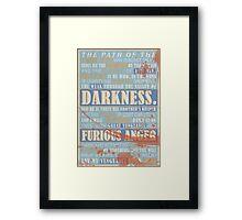Pulp Fiction: Ezekiel 25:17 (Bloodied) Framed Print