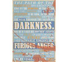 Pulp Fiction: Ezekiel 25:17 (Bloodied) Photographic Print