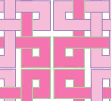 Celtic Squares in Pink Sticker